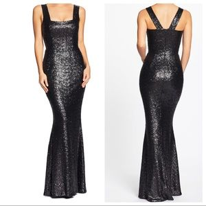 Dress the Population Raven Sequin Gown